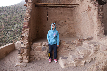 Michelle at Tonto Ntl Monument